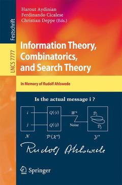 Cover of the book Information Theory, Combinatorics, and Search Theory