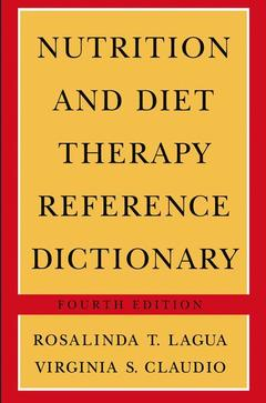 Cover of the book Nutrition & diet therapy reference dictionary 4th edition