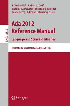 Couverture de l'ouvrage Ada 2012 Reference Manual. Language and Standard Libraries
