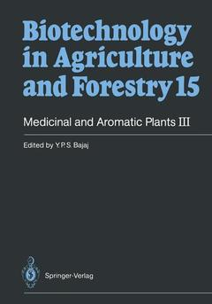 Couverture de l'ouvrage Medicinal and aromatic plants III (Biotechnology in agriculture and forestry, 15)