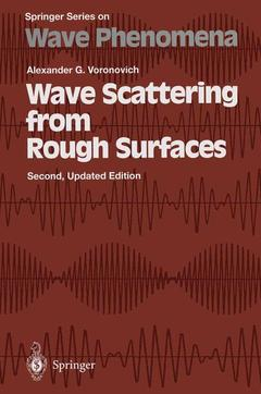 Couverture de l'ouvrage Wave Scattering from Rough Surfaces