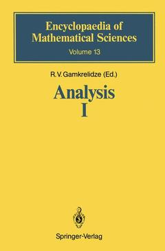 Couverture de l'ouvrage Analysis I : Integral representations and asymptotic methods encyclopaedia of mathematical sciences volume 13