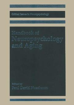 Couverture de l'ouvrage Handbook of neuropsychology and aging