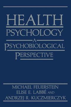 Couverture de l'ouvrage Health psychology: a psychobiological perspective