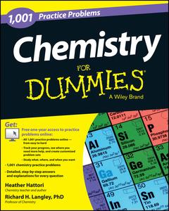 Couverture de l'ouvrage 1,001 Chemistry Practice Problems For Dummies