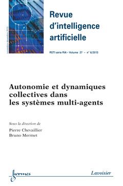 Couverture de l'ouvrage Revue d'intelligence artificielle RSTI série RIA Volume 27 N° 6/Novembre-Décembre 2013