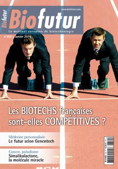 Couverture de l'ouvrage Biofutur N° 350 (Janvier 2014) : Les biotechs françaises sont-elles compétitives ?