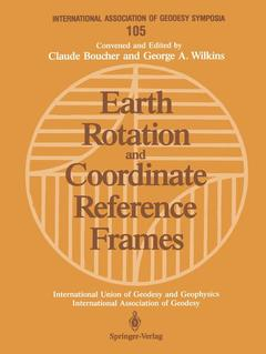 Couverture de l'ouvrage Earth Rotation and Coordinate Reference Frames