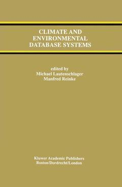 Cover of the book Climate and environmental database systems (Kluwer intl.ser.eng.and computer science 386) bound