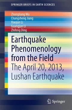 Cover of the book Earthquake Phenomenology from the Field