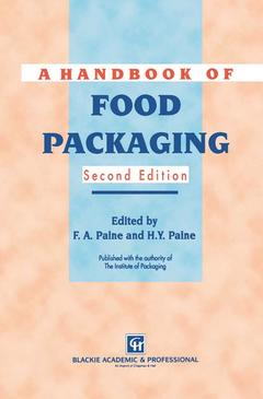 Couverture de l'ouvrage Handbook of food packaging (2nd ed'92)