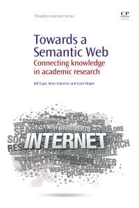 Couverture de l'ouvrage Towards A Semantic Web