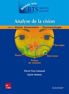 Couverture de l'ouvrage Analyse de la vision - Tome 2