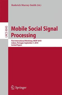 Couverture de l'ouvrage Mobile Social Signal Processing
