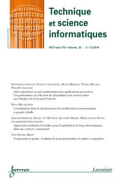 Couverture de l'ouvrage Technique et science informatiques RSTI série TSI Volume 33 N° 1-2/janvier-février 2014