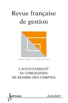Couverture de l'ouvrage Revue française de gestion Volume 39 N° 237/Novembre-Décembre 2013