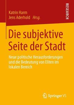 Couverture de l'ouvrage Die subjektive Seite der Stadt