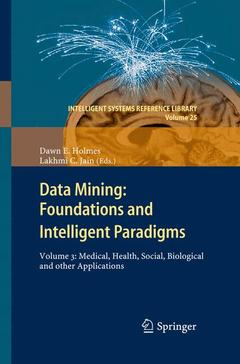 Couverture de l'ouvrage Data Mining: Foundations and Intelligent Paradigms