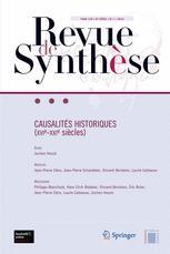 Couverture de l'ouvrage Revue de synthèse Volume 135 n° 1 / mars 2014