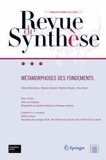Couverture de l'ouvrage Métamorphoses des fondements