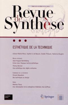 Couverture de l'ouvrage Esthétique de la technique