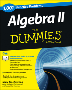 Couverture de l'ouvrage Algebra II: 1,001 Practice Problems For Dummies (+ Free Online Practice)