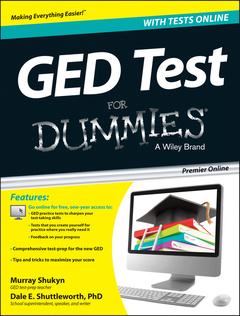 Couverture de l'ouvrage GED Test For Dummies with Online Practice
