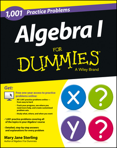 Couverture de l'ouvrage Algebra I: 1,001 Practice Problems For Dummies (+ Free Online Practice)