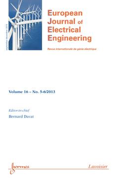 Couverture de l'ouvrage European Journal of Electrical Engineering Volume 16 N° 5-6/September-December 2013