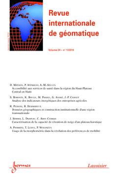 Couverture de l'ouvrage Revue internationale de géomatique Volume 24 N° 1/Janvier-Mars 2014