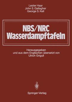 Cover of the book NBS/NRC wasserdampftafeln