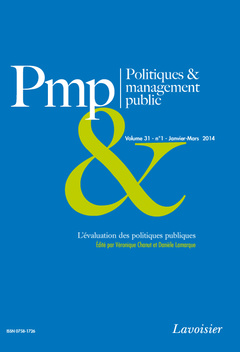 Couverture de l'ouvrage L'évaluation des politiques publiques