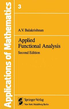 Cover of the book Applied functional analysis (2nd ed )