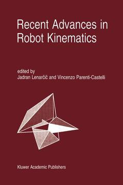 Couverture de l'ouvrage Recent Advances in Robot Kinematics