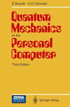 Couverture de l'ouvrage Quantum mechanics on the personal computer - 3rd ed 94 (3 1/2 MS-DOS program diskette)