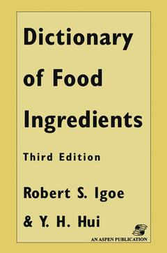 Cover of the book Dictionary of food ingredients (3rd ed' 96) bound