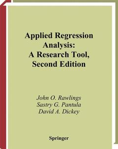 Couverture de l'ouvrage Applied regression analysis, a research tool, 2nd ed 1998