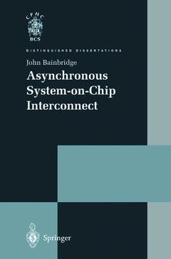 Couverture de l'ouvrage Asynchronous system-on-chip interconnect
