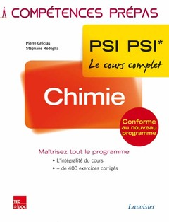 Couverture de l'ouvrage Chimie 2e année PSI PSI*