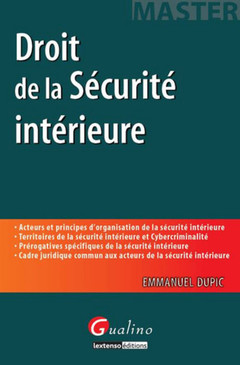 Couverture de l'ouvrage Droit de la sécurité intérieure