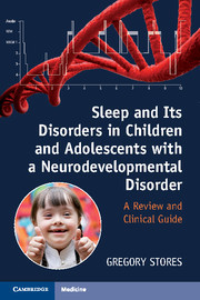 Cover of the book Sleep and Its Disorders in Children and Adolescents with a Neurodevelopmental Disorder