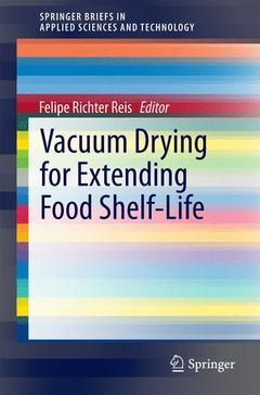 Couverture de l'ouvrage Vacuum Drying for Extending Food Shelf-Life
