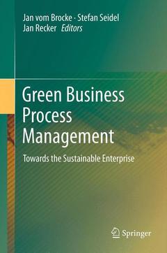 Couverture de l'ouvrage Green Business Process Management