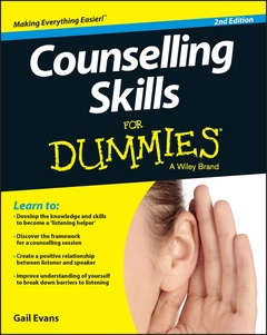 Couverture de l'ouvrage Counselling Skills For Dummies