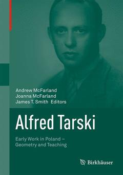 Couverture de l'ouvrage Alfred Tarski