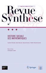 Couverture de l'ouvrage Histoire sociale des mathématiques