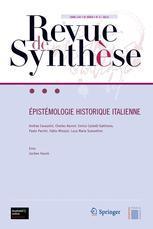 Couverture de l'ouvrage Épistémologie historique italienne