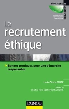 Couverture de l'ouvrage Le recrutement éthique