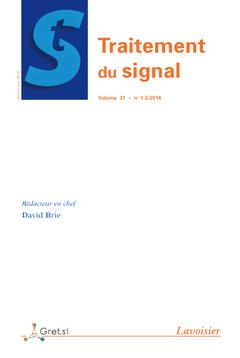 Couverture de l'ouvrage Traitement du signal Volume 31 N° 1-2/Janvier-Juin 2014