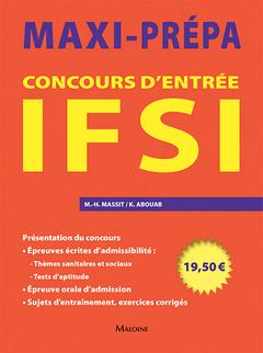 Couverture de l'ouvrage Concours d'entrée IFSI